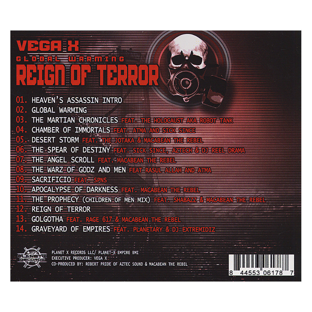 <!--020120612043912-->Vega X - 'Global Warming: Reign of Terror' [CD]
