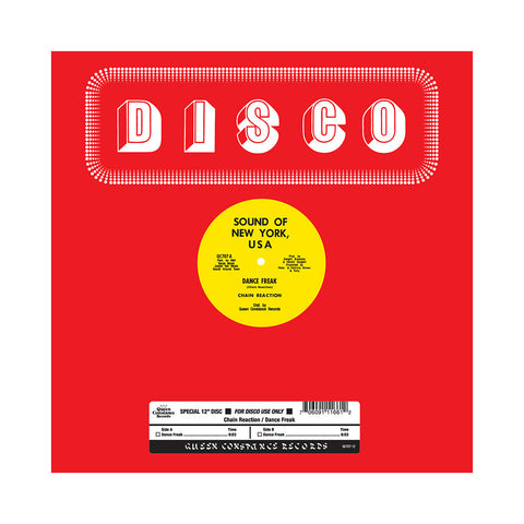 "[""Chain Reaction - 'Dance Freak' [(Black) 12\"" Vinyl Single]""]"