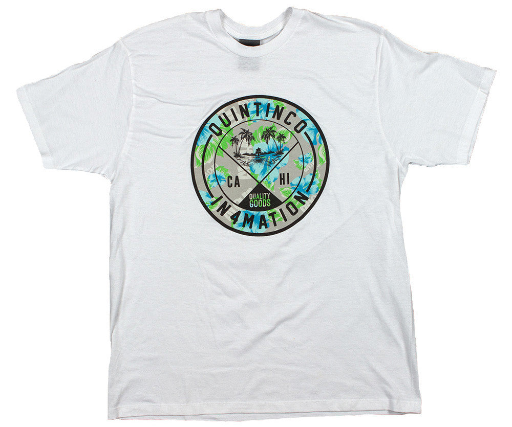 <!--2014072945-->Quintin x In4mation - 'Island Seal' [(White) T-Shirt]