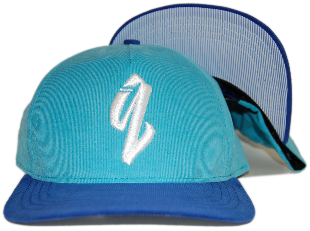 <!--020120522045065-->Quintin - 'Basic - Corduroy' [(Light Blue) Snap Back Hat]