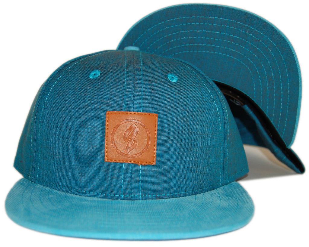 <!--020120522045061-->Quintin - 'Mission - Teal' [(Light Blue) Snap Back Hat]