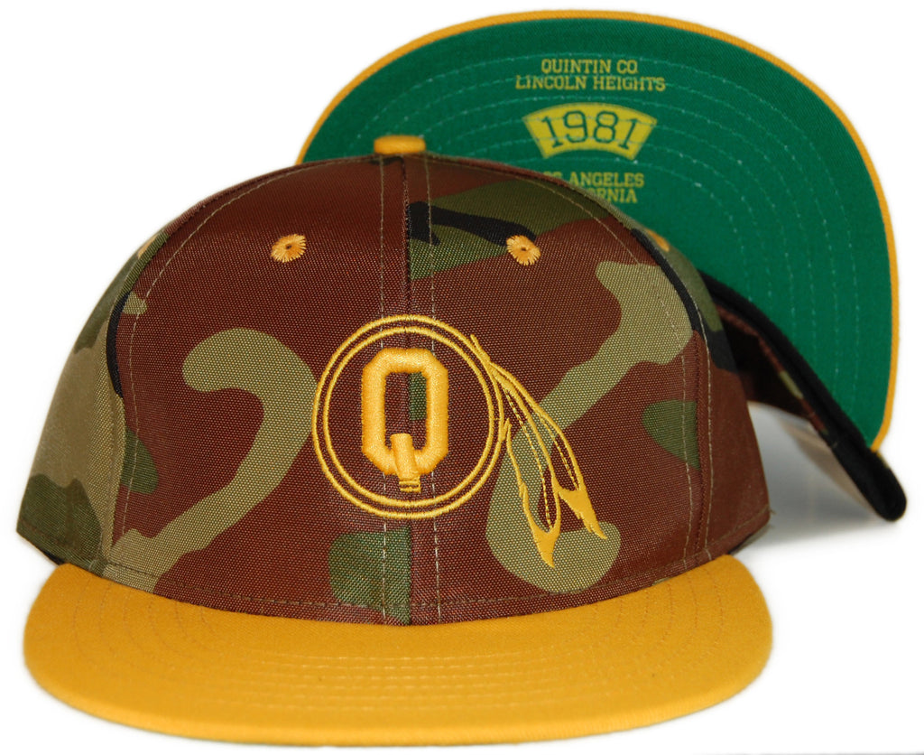 <!--020120228041910-->Quintin - 'Braves - Woodland Camo' [(Camo Pattern) Snap Back Hat]
