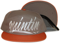 <!--020120228041906-->Quintin - 'Large Hit - Pumpkin & Taupe' [(Light Brown) Snap Back Hat]