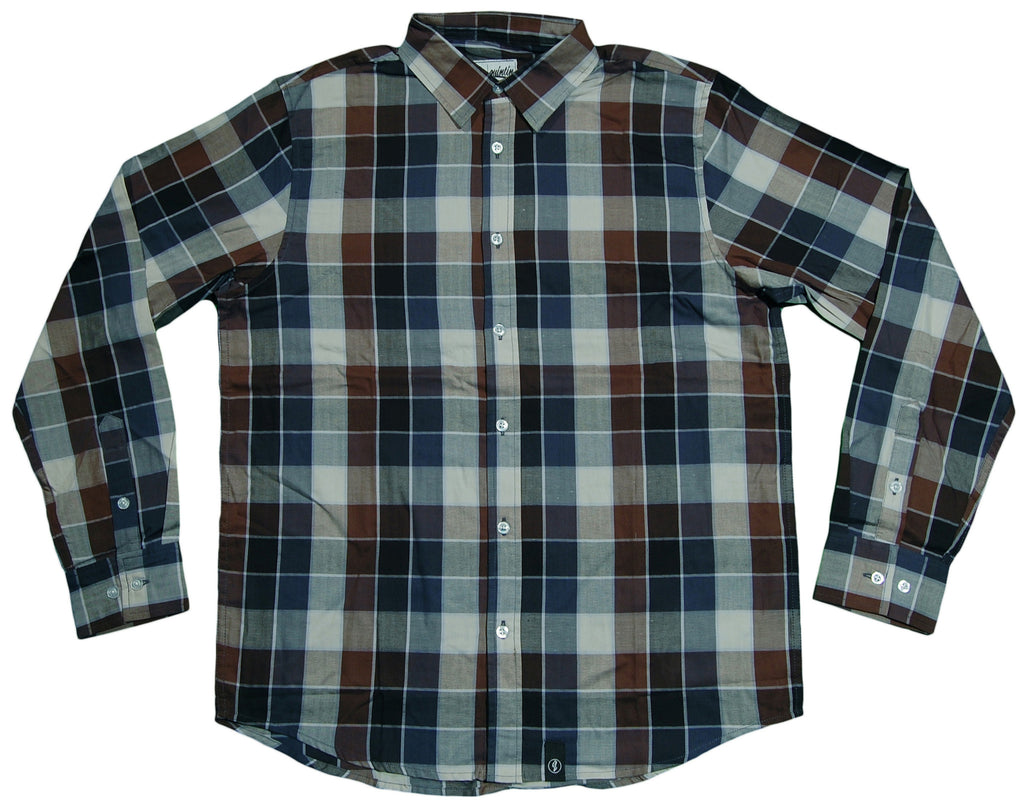 <!--2013060402-->Quintin - 'Flint' [(Dark Blue) Button Down Shirt]