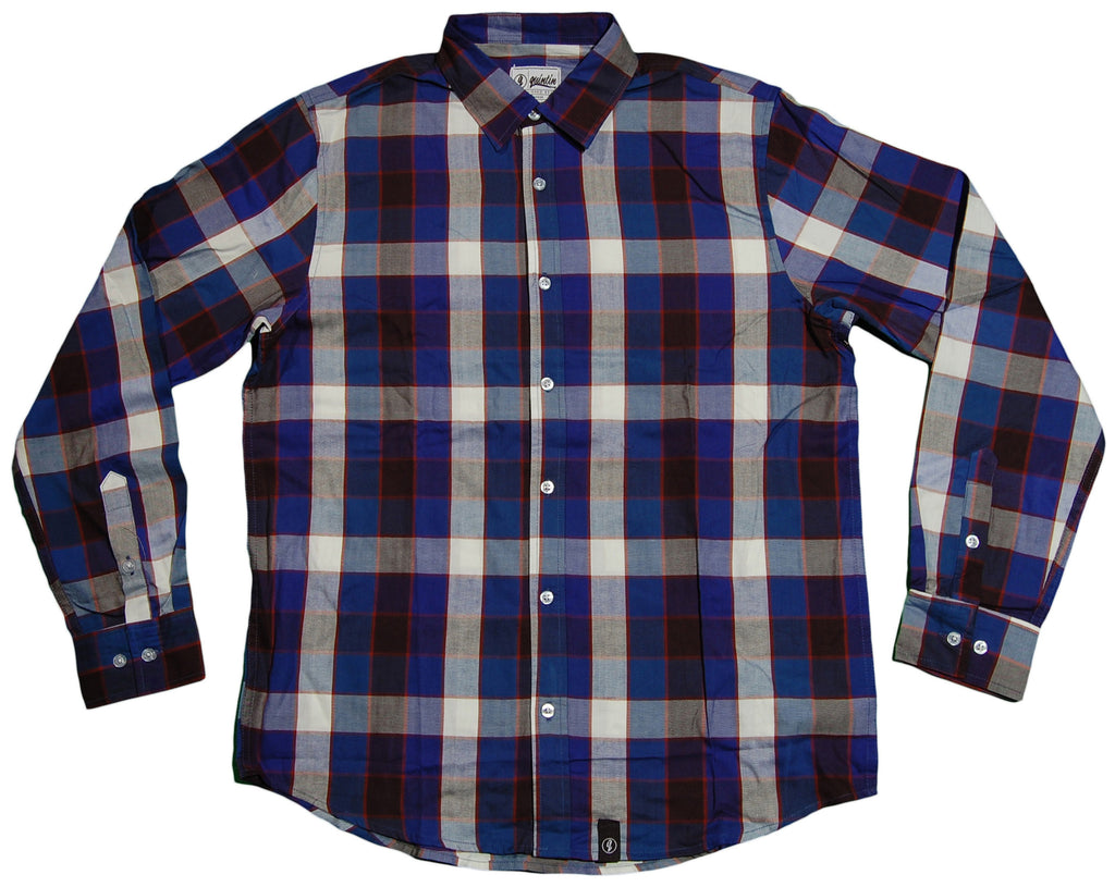 <!--2013060406-->Quintin - 'Flint' [(Blue) Button Down Shirt]