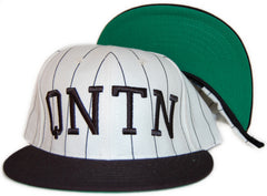 <!--020110830034471-->Quintin - 'Collegiate Pinstripe' [(White) Snap Back Hat]
