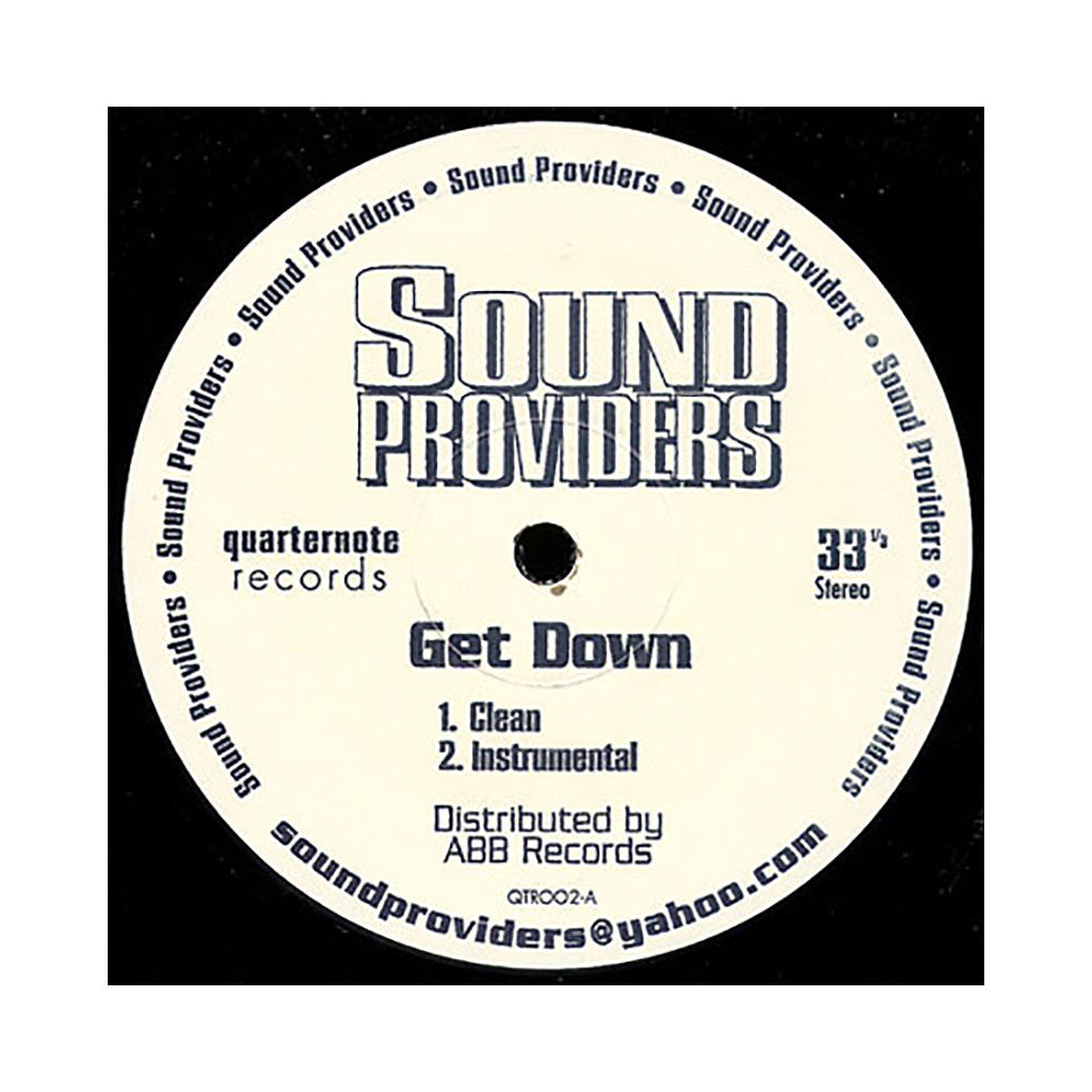 "<!--019990831016517-->Sound Providers - 'Get Down/ No Time' [(Black) 12"""" Vinyl Single]"