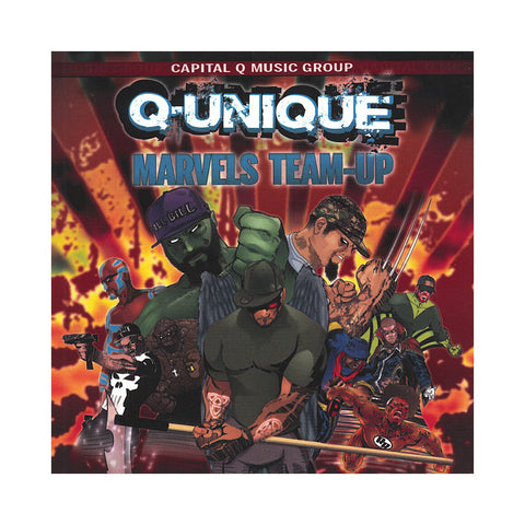 "[""Q-Unique - 'The Collabo Tapes Vol. 3: Marvels Team-Up' [CD]""]"