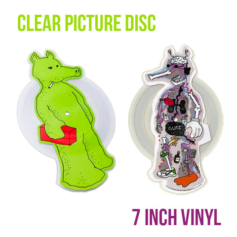 "[""Quasimoto - 'Talkin' Shit/ Planned Attack (X-Ray Green Edition)' [(Clear Picture Disc) 7\"" Vinyl Single]""]"