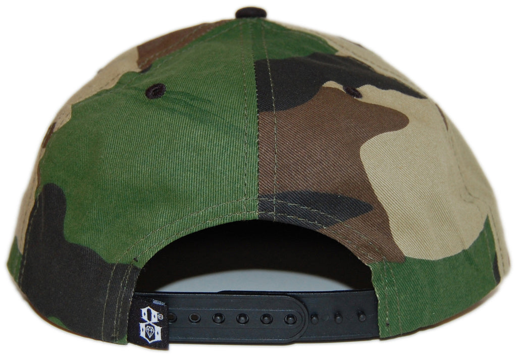 <!--020130212053945-->REBEL8 - 'Main Line' [(Camo Pattern) Snap Back Hat]