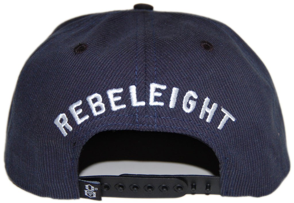 <!--020130402055408-->REBEL8 - 'Overboard' [(Dark Blue) Snap Back Hat]