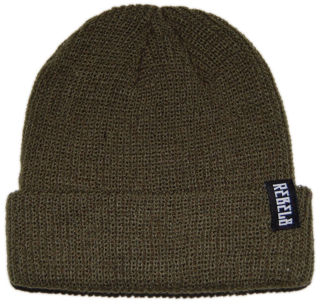 <!--020130402055404-->REBEL8 - 'In Us We Trust' [(Dark Green) Winter Beanie Hat]