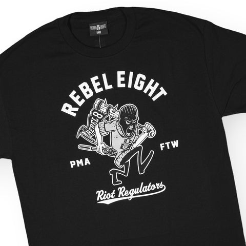 REBEL8 - 'Riot Regulators' [(Black) T-Shirt]