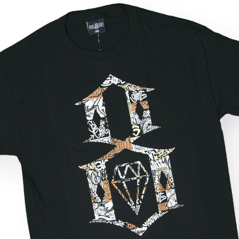 REBEL8 - 'Giant Collage 8 Logo' [(Black) T-Shirt]