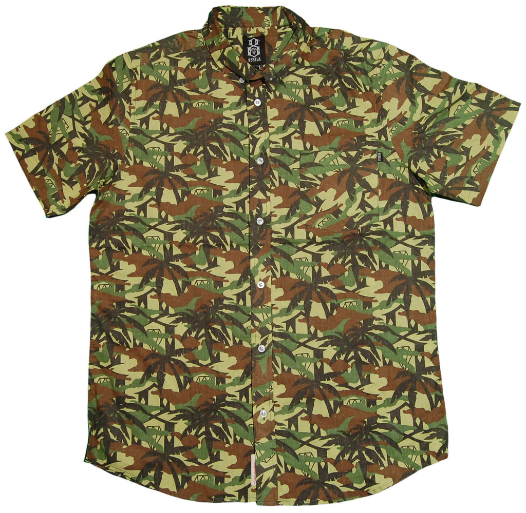 <!--2013061126-->REBEL8 - 'Jungle Camo' [(Camo Pattern) Button Down Shirt]