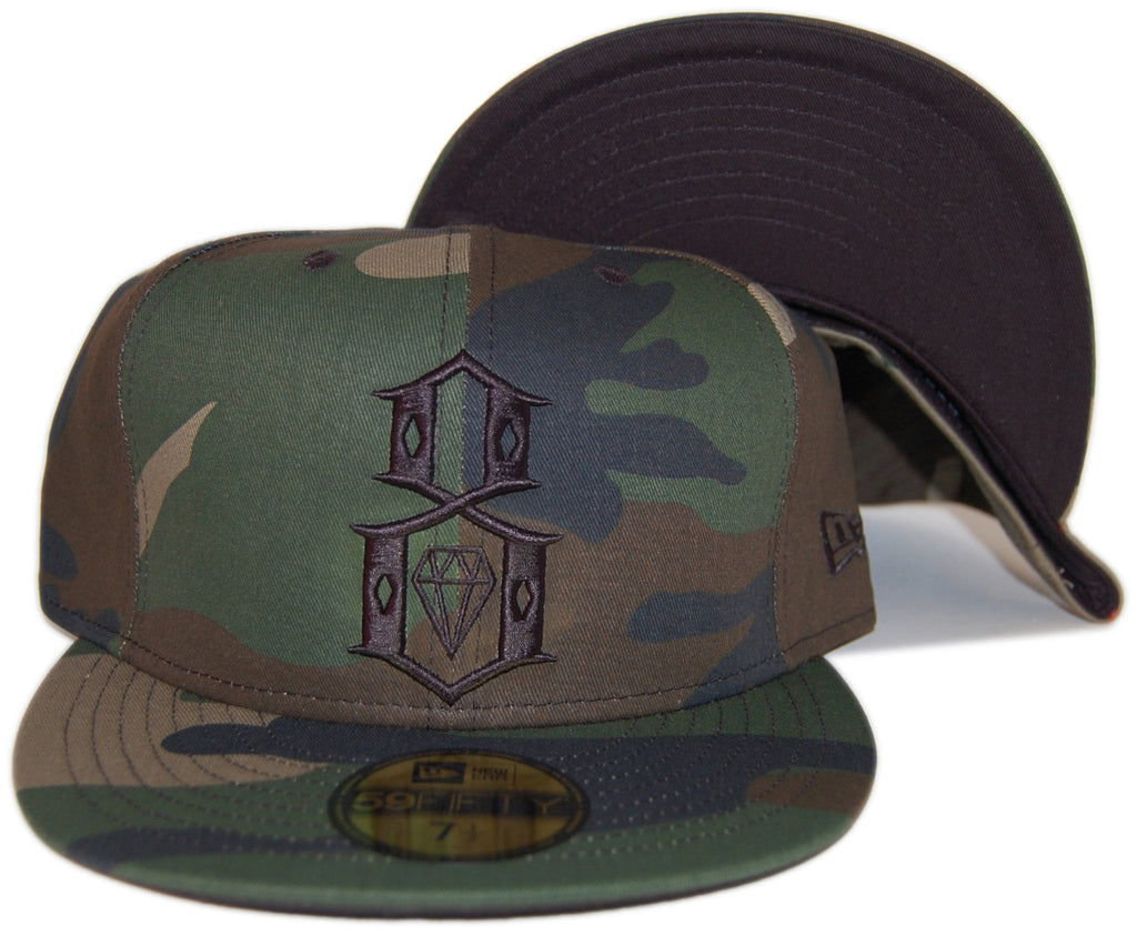 <!--2013061108-->REBEL8 - 'Camo Logo' [(Camo Pattern) Fitted Hat]