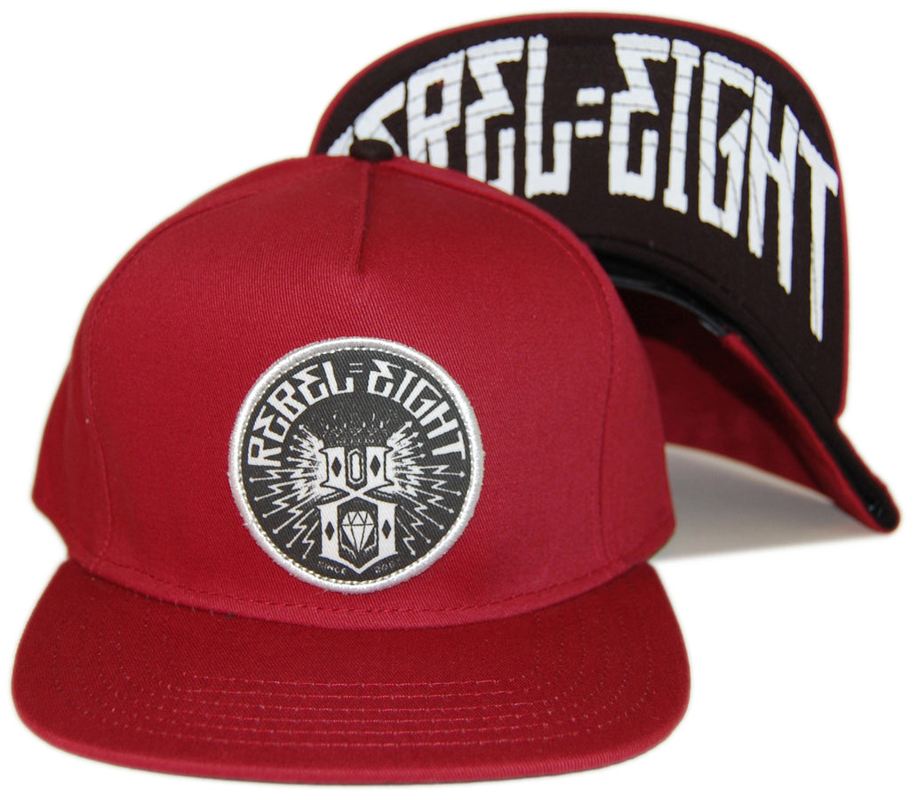 <!--020130611057261-->REBEL8 - 'Sewer King' [(Dark Red) Snap Back Hat]