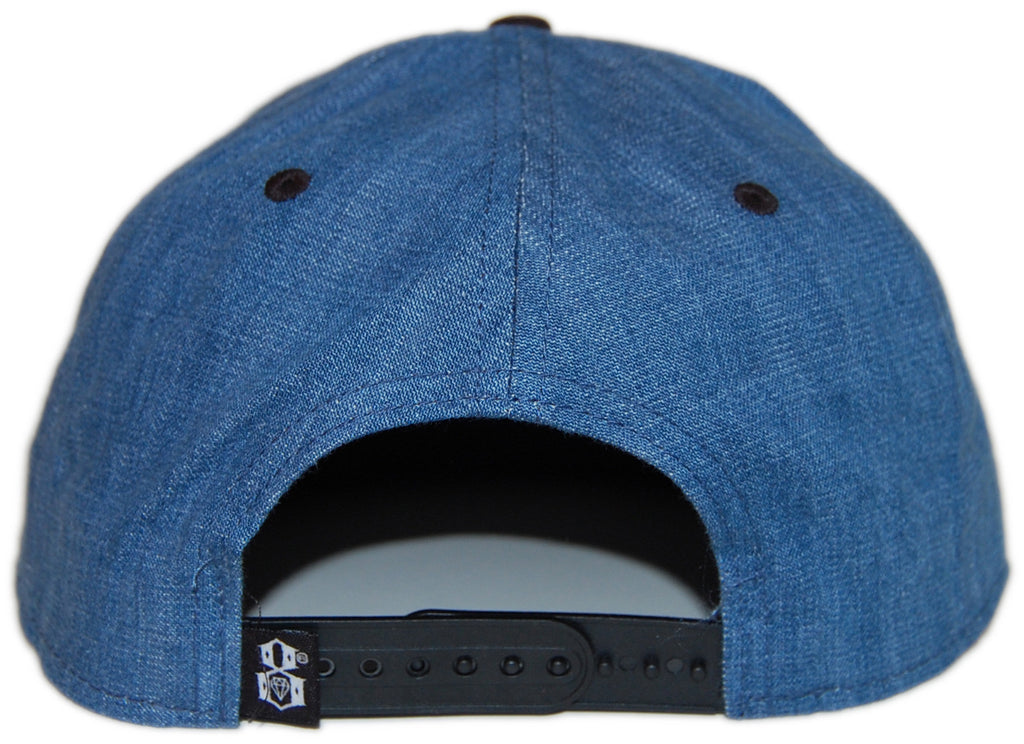 <!--020130611057263-->REBEL8 - 'Denim Logo' [(Light Blue) Snap Back Hat]