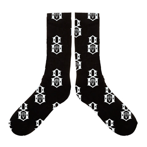 REBEL8 - 'Pattern Logo' [(Black) Socks]