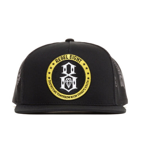 REBEL8 - 'RBL8 Scouts Mesh' [(Black) Snap Back Hat]