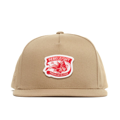 REBEL8 - 'Premium Blend' [(Light Brown) Snap Back Hat]