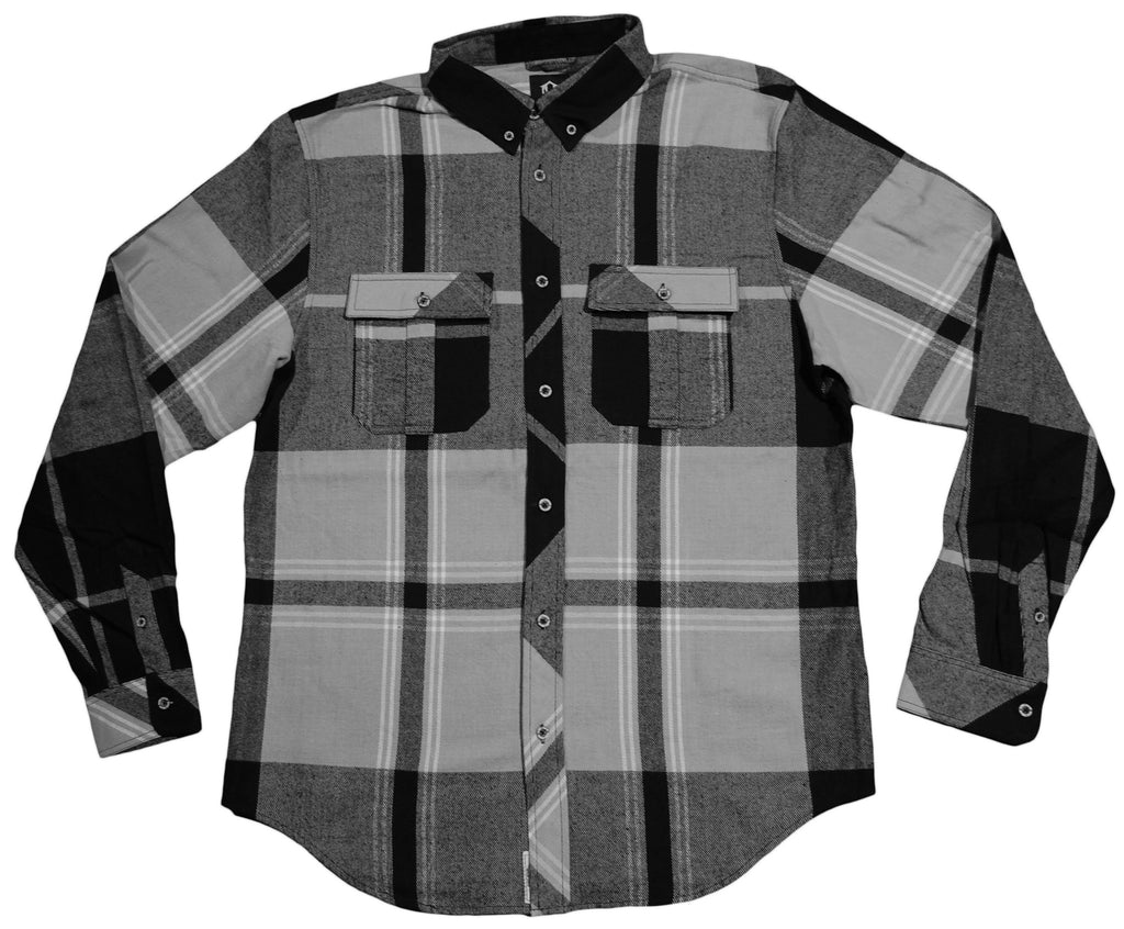 <!--2013091700-->REBEL8 - 'Overcast Flannel' [(Black) Button Down Shirt]