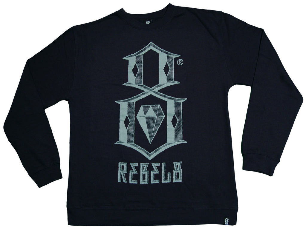 <!--2013091742-->REBEL8 - 'Bevel Logo' [(Dark Blue) Crewneck Sweatshirt]