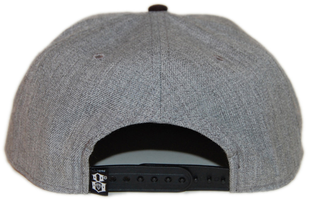 <!--020130917059677-->REBEL8 - 'Root Of All Evil' [(Gray) Snap Back Hat]