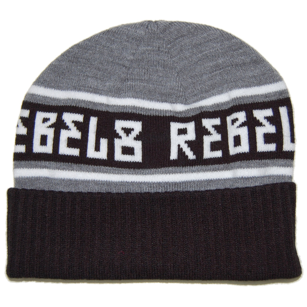 <!--020130917059675-->REBEL8 - 'Alpine - Gray' [(Black) Winter Beanie Hat]
