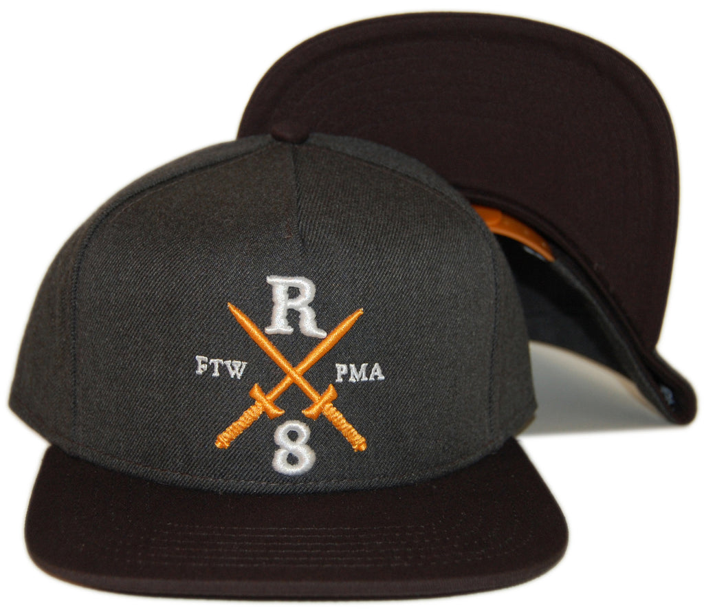 <!--020130820059039-->REBEL8 - 'Raising Hell' [(Dark Gray) Snap Back Hat]