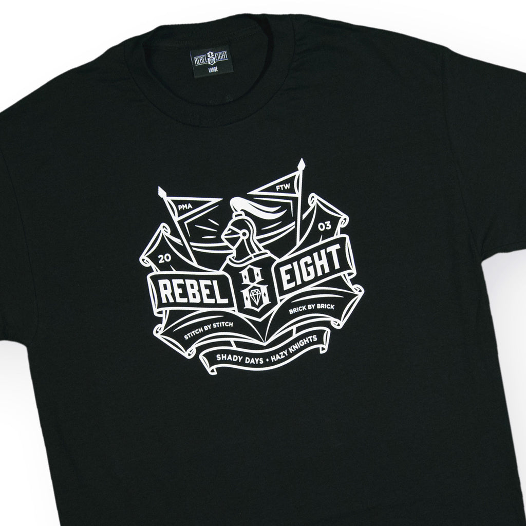 <!--020160725073697-->REBEL8 - 'Hazy Knights' [(Black) T-Shirt]