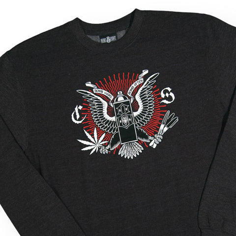 REBEL8 - 'Bomb Often' [(Dark Gray) Crewneck Sweatshirt]