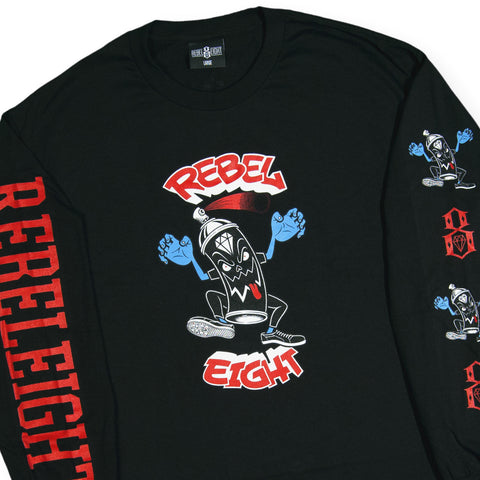 REBEL8 - 'Eighters Law' [(Black) Long Sleeve Shirt]