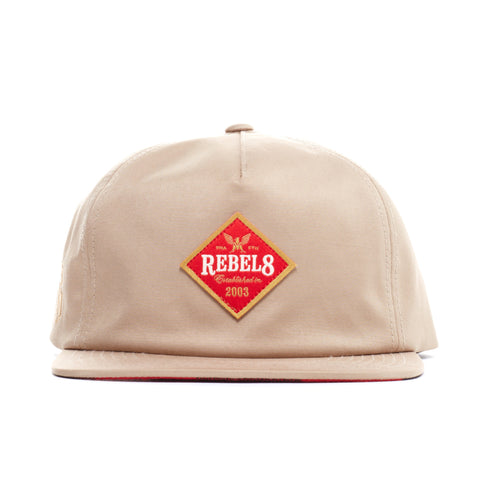 REBEL8 - 'Draft' [(Light Brown) Snap Back Hat]
