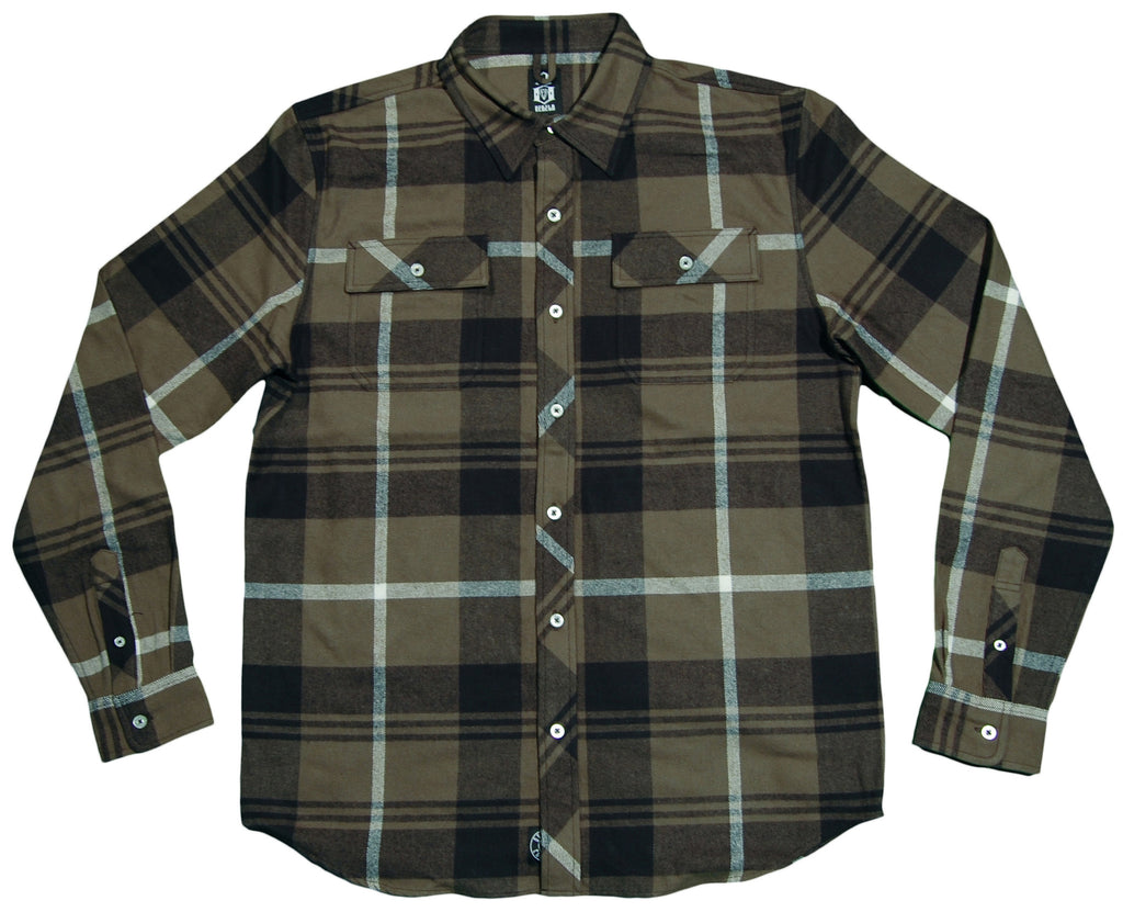 <!--2012112051-->REBEL8 - 'Rainier' [(Dark Green) Button Down Shirt]