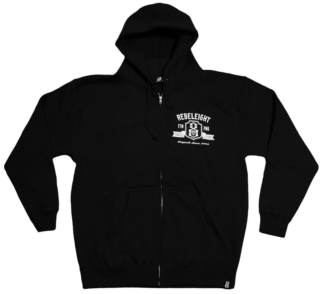 <!--2012112036-->REBEL8 - 'Don't Tread On Me' [(Black) Hooded Sweatshirt]