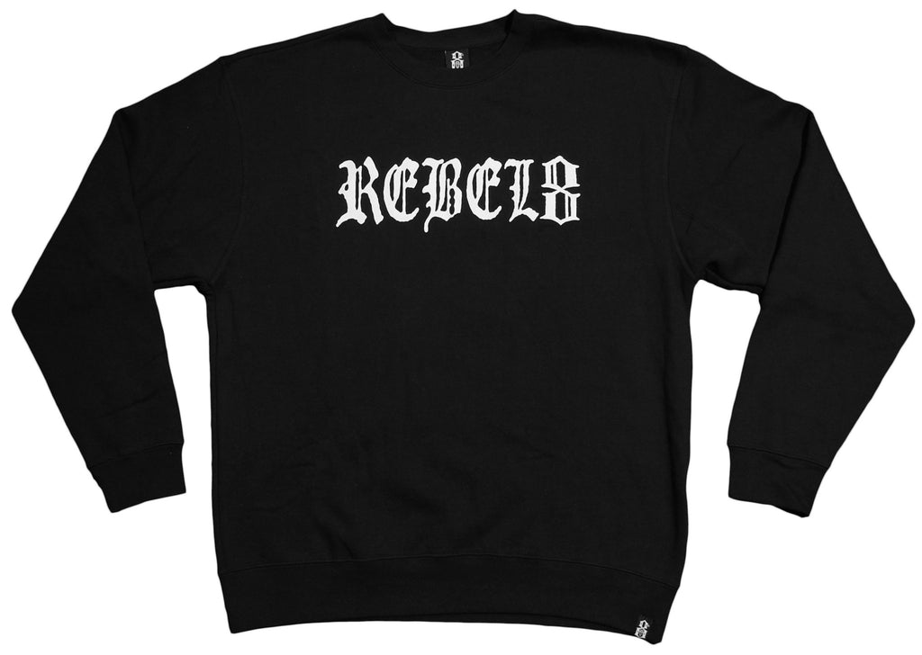 REBEL8 - 'Champion' [(Black) Crewneck Sweatshirt]