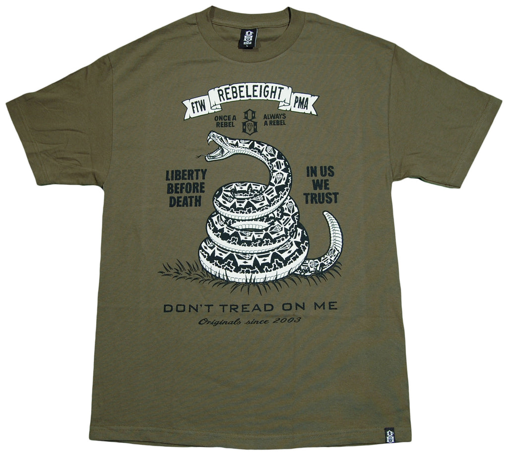 REBEL8 - 'Don't Tread On Me' [(Dark Green) T-Shirt]