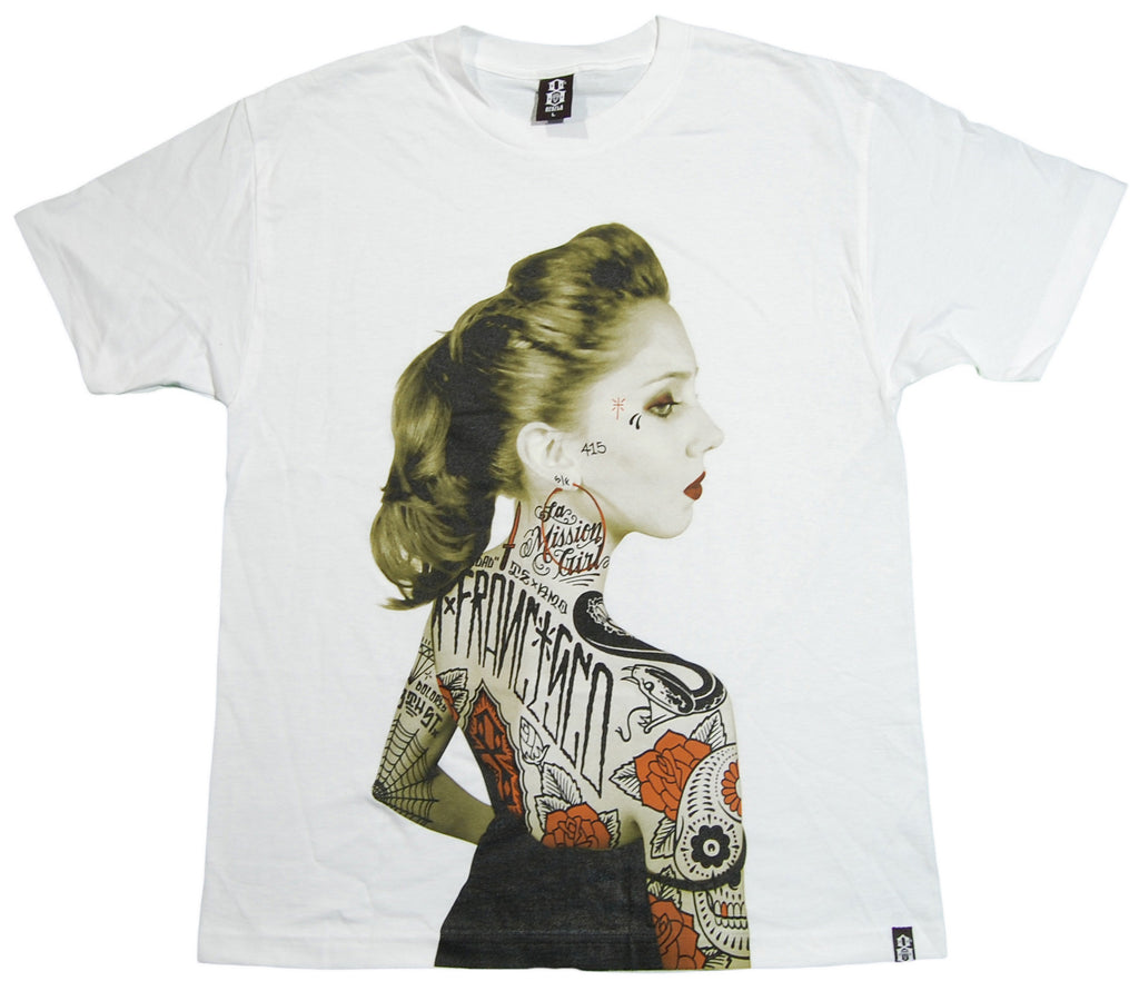 <!--2012112014-->REBEL8 - 'Vintage Rosalie' [(White) T-Shirt]