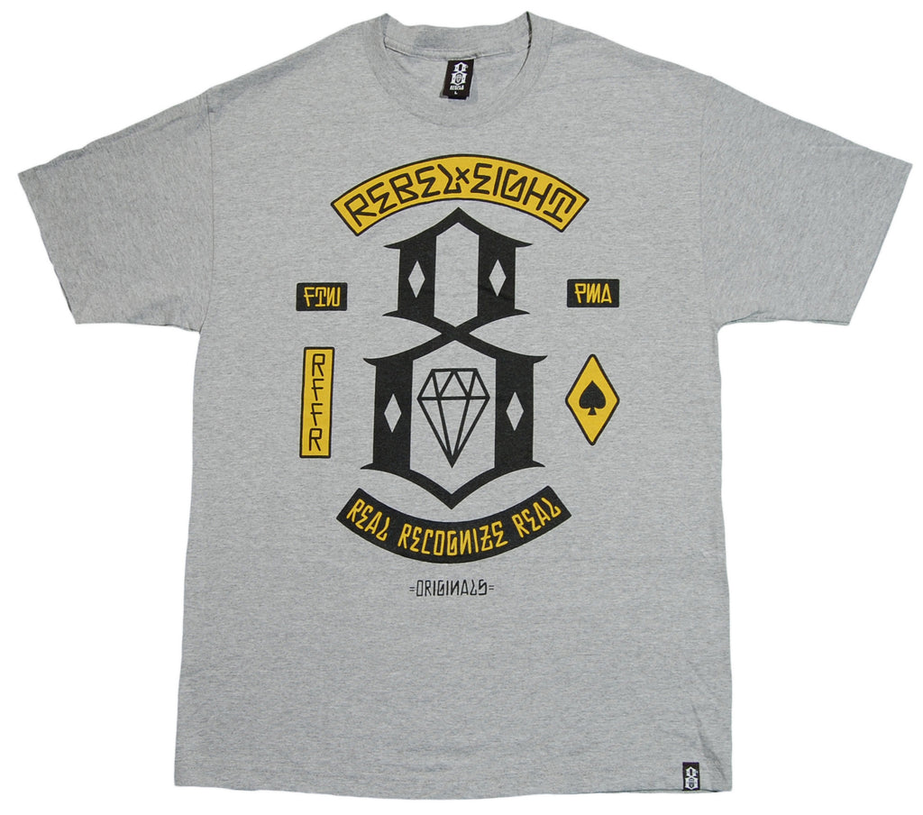 <!--2012112005-->REBEL8 - 'Recognize' [(Gray) T-Shirt]