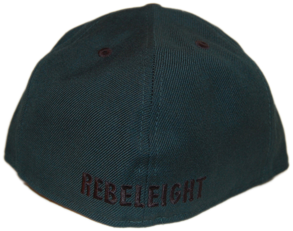 <!--2012112051-->REBEL8 - 'Owluminati' [(Dark Green) Fitted Hat]