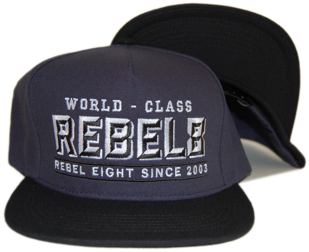 <!--020121120051295-->REBEL8 - 'Stout' [(Dark Blue) Snap Back Hat]