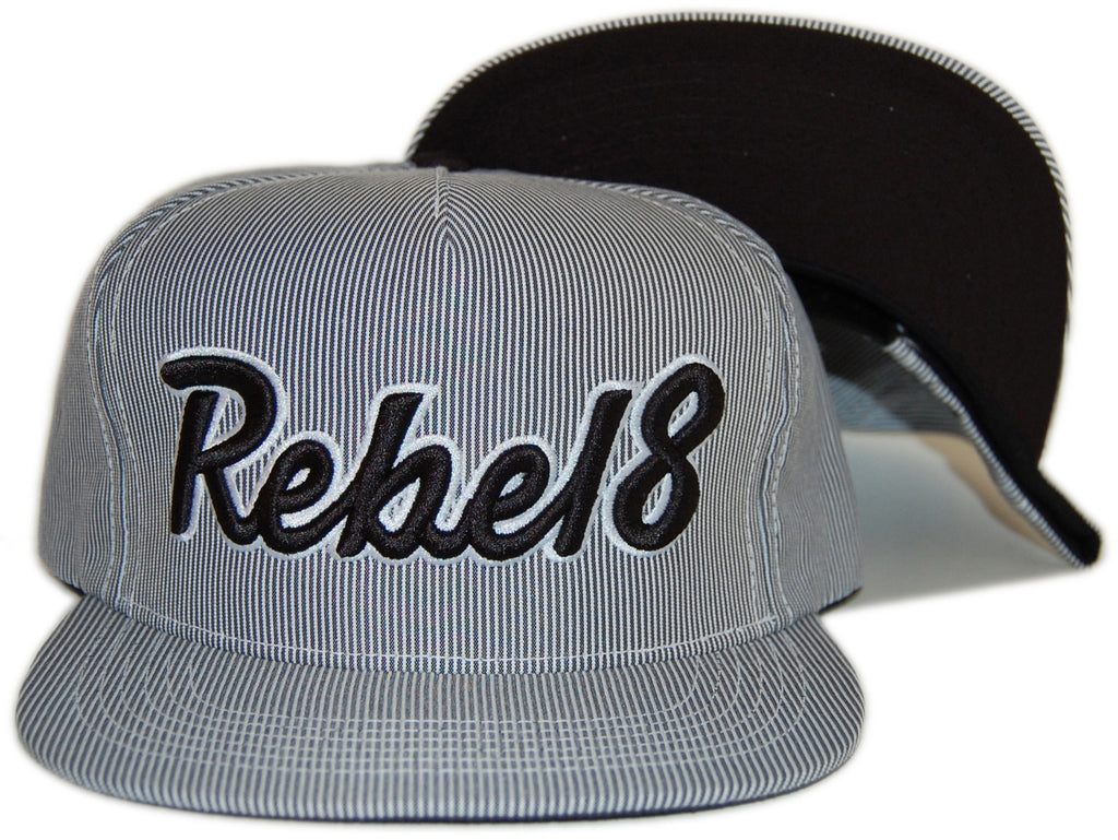 REBEL8 - 'Posse Up' [(Light Gray) Snap Back Hat]