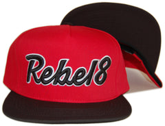 <!--020121120051296-->REBEL8 - 'Posse Up - Red/ Black' [(Red) Snap Back Hat]