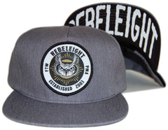REBEL8 - 'Owluminati' [(Light Gray) Snap Back Hat]