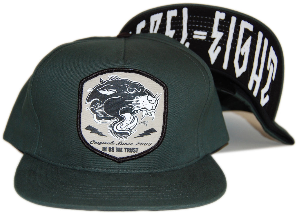 <!--020121120051298-->REBEL8 - 'Pantera - Forest' [(Dark Green) Snap Back Hat]