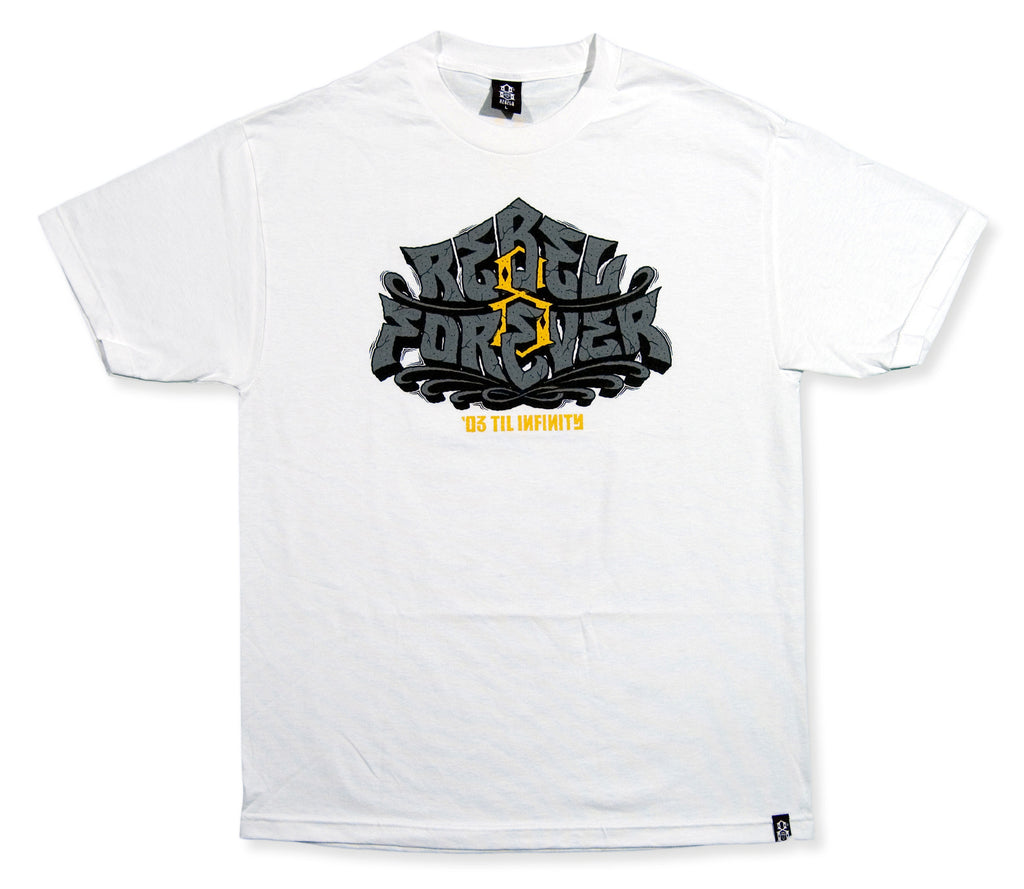 <!--2013112519-->REBEL8 - 'Til Infinity' [(White) T-Shirt]