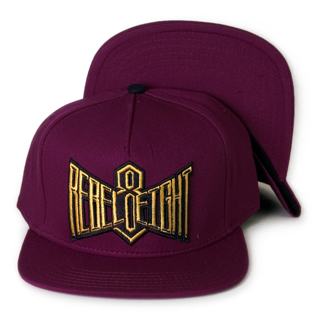 REBEL8 - 'Double Edge - Maroon' [(Dark Red) Snap Back Hat]