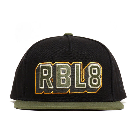 REBEL8 - 'Top Gunner' [(Black) Snap Back Hat]