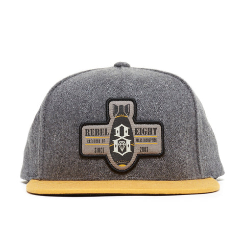 REBEL8 - 'Mass Disruption' [(Dark Gray) Snap Back Hat]